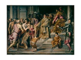 St Lawrence Giving Out Alms Giclee Print by  Palma Il Giovane