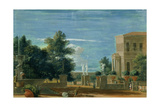 Park and Gardens of a Villa, c.1724 Giclée-tryk af Marco Ricci