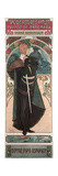Sarah Bernhardt (1844-1923) as Hamlet at the Theatre Sarah Bernhardt, 1899 Giclee Print by Alphonse Mucha