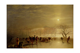 Skaters: Duddingston Loch by Moonlight, 1857 Giclee Print by Charles Lees