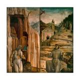 Saint Jerome and Saint Francis Giclée-tryk af Gentile Bellini