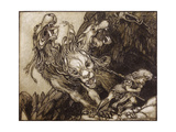 The Twelfth Labour of Hercules, Illustration from 'The Greek Heroes' by B.G. Niebuhr, 1903 Giclee Print by Arthur Rackham