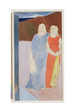 Two Muses at the Tomb of a Poet, 1937 Giclee Print by Glyn Warren Philpot