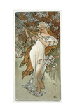 The Seasons: Spring, 1896 Giclee Print by Alphonse Marie Mucha