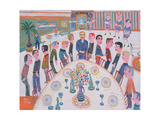 Gentlemen Be Seated Giclee Print by Fred Yates