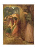 The Gate of Memory, 1864 (Coloured Chalks on Paper) Giclee Print by Dante Charles Gabriel Rossetti