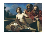 Susanna and the Elders Giclee Print by  Guercino (Giovanni Francesco Barbieri)