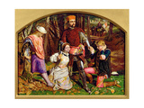 Valentine Rescuing Silvia from Proteus, 1851 Giclee Print by William Holman Hunt