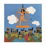 A Caged Bird, from 'Carnaby Street' by Tom Salter, 1970 Giclee Print by Malcolm English