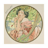 July, 1899 (Detail) Giclee Print by Alphonse Marie Mucha