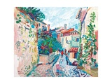 Street in Sablet, 2003 Giclee Print by Fred Yates