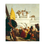 Jesus Is Condemned to Death, Stations of the Cross, 1747 Giclée-tryk af Giandomenico Tiepolo