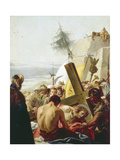 Simon of Cyrene Helps Jesus, Stations of the Cross, 1747 Giclée-tryk af Giandomenico Tiepolo