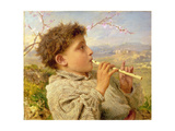 Shepherd Piper, 1881 Giclee Print by Sophie Anderson