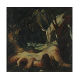 Study for the Sleeping Wood Nymph, 1903-06 Giclee Print by Charles Haslewood Shannon