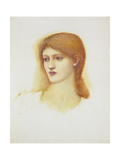 Study of a Female Head for Sibylla Delphica, Mid 1880s Giclee Print by Sir Edward Coley Burne-Jones
