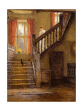 The Staircase, Whittington Court, Gloucestershire Giclee Print by Helen Allingham