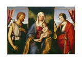 Madonna and Child with St Justina and St John the Baptist Giclee Print by Boccaccio Boccaccino