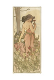 The Flowers: Carnation, 1898 Giclee Print by Alphonse Marie Mucha