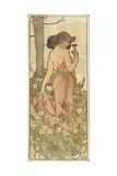 The Flowers: Carnation, 1898 Lámina giclée por Mucha, Alphonse Marie