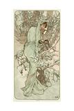 The Seasons: Winter, 1896 Giclée-tryk af Alphonse Mucha