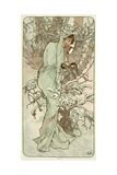 The Seasons: Winter, 1896 Giclee Print by Alphonse Mucha