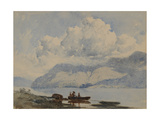 Lake with Boat and Figures, 1840-58 Giclee Print by William James Blacklock