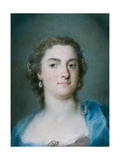 Portrait of Faustina Bordoni Hasse Giclée-tryk af Rosalba Giovanna Carriera