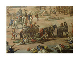 View of the Town Hall, Marseilles, During the Plague of 1720, Detail of the Carts Giclee Print by Michel Serre