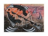 Fish Drawing Giclee Print by Eileen Agar