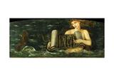 Helen, a Mermaid, c.1880 Giclee Print by Sir Edward Coley Burne-Jones