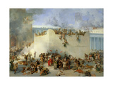 Destruction of the Temple of Jerusalem Giclee Print by Francesco Hayez