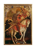 Saint Chrysogonos on a Horse, c.1450 Giclee Print by Michele Giambono