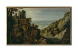 View of the Temple of the Sibyl in Tivoli Giclee Print by Marten Ryckaert