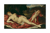 Venus Asleep with Cupid Giclee Print by Paris Bordone