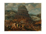 The Tower of Babel Giclee Print by Jan van Scorel