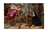 The Annunciation, c.1535 Giclee Print by  Titian (Tiziano Vecelli)