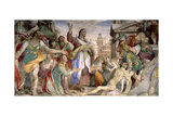 Resurrection of Lazarus, c.1578 Giclee Print by Battista Franco