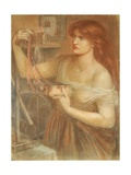 Risen at Dawn - Gretchen Discovering Faust's Jewels, 1868 Giclee Print by Dante Charles Gabriel Rossetti