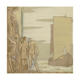 The Landing of St Patrick in Ireland, c.1912 Giclee Print by Frederick Cayley Robinson