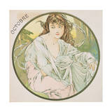 October, 1899 (Detail) Lámina giclée por Mucha, Alphonse Marie