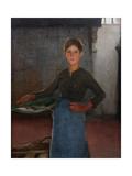 A Zandvoort Fishergirl, 1884 Giclee Print by Elizabeth Adela Stanhope Forbes