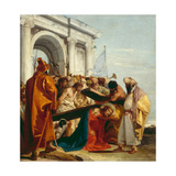 Christ Falls Beneath the Cross, Stations of the Cross, 1747 Giclée-tryk af Giandomenico Tiepolo