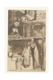 Fair Annie - Illustration to a Ballad, c.1854 Giclee Print by Dante Gabriel Rossetti