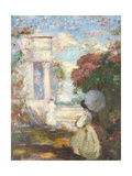 Lyrical Landscape with Two Figures in Nineteenth Century Dress, 1890-1900 Giclee Print by Charles Edward Conder