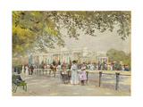 Hyde Park: Waiting for Royalty Giclee Print by Rose Maynard Barton
