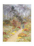 Walled Garden in Springtime Giclee Print by Helen Allingham
