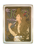 Poster Advertising 'Job' Cigarette Papers, 1896 Giclee Print by Alphonse Marie Mucha