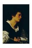 Figure of a Young Man, c.1530 Giclée-tryk af Giovanni Girolamo Savoldo