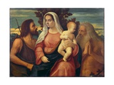 Madonna and Child with St. John the Baptist and St. Bartholomew Giclee Print by Jacopo Palma
